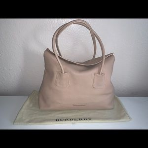 Authentic Burberry baynard leather shopper tote
